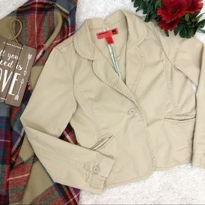 Mossimo Corduroy Blazer Jacket Button Close Tan XL